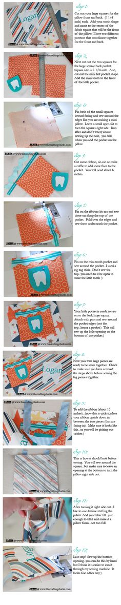 I think I'm going to attempt to make one of these pillows for Silas. Hopefully I don't screw it up! {Tooth Fairy Pillow and Free Printable Pattern}