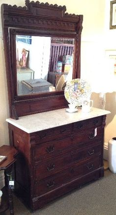 Antique Dresser With Mirror And Marble Top Bestdressers 2019