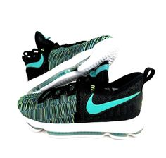 25ae59e3d18c New Nike Zoom KD9 GS Birds Of Paradise 855908-300 Size 4.5Y Black Green