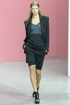 Theyskens' Theory Spring 2014 Ready-to-Wear Collection Slideshow on Style.com biker shorts