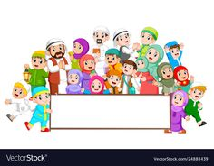 A big muslim family are gathering near the blank board Stock Photo , Kids Background, Geometric Background, Vector Background, School Science Experiments, Certificate Background, Educational Activities For Preschoolers, Family Illustration, Design Illustrations, Kids Reading Books