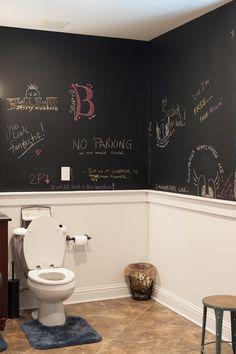 Per un tocco creativo in più alla casa ecco tante idee per creare una parete di lavagna in casa