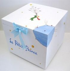 Wooden Baptism/ toy box themed Little Prince at www.happyrooms.gr