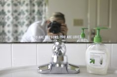 I would like to put this on my kids' bathroom mirror.   mirror quote in vinyl - by Ali Edwards