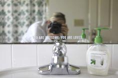 mirror quote in vinyl - by Ali Edwards