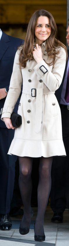 burberry (you can get a look-a-like trench like Kate's at New York & Company for $89)