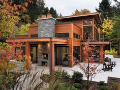 Cedar Retreat by Coastal Construction.