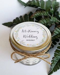 Wedding Favor Candles 50 Mason Jar Favors Rustic Favors