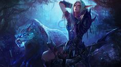 Vídeo Game World Of Warcraft  Night Elf Papel de Parede