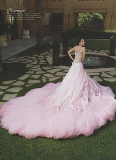 Swooning over this feminine romantic wedding gown! Berta Bridal, Bridal Gowns, Wedding Gowns, Pink Gowns, Pink Dress, Elie Saab, Beautiful Gowns, Beautiful Outfits, Color Rosa