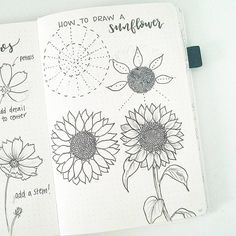 Happy Friday! By request, here are the steps to draw a sunflower. To me, the hardest part is getting the petals to stay uniform around the center. To help, draw guidelines in pencil to help place the petals. Enjoy! . . . Go see the tutorial from @inkbyjeng! She is showing how to draw one of my all time favorite flowers!