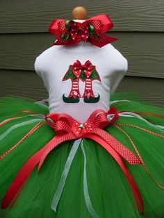 Elf Shoes Christmas Tutu Outfit http://www.tutusweetshop.com/item_388/Elf-Shoes-Christmas-Tutu-Outfit.htm