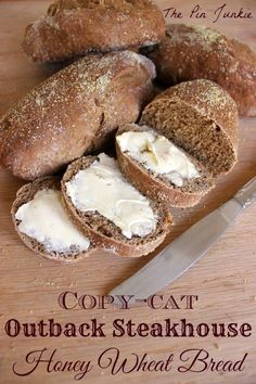 Copy-Cat Outback Steakhouse Honey Wheat Bread Find the Bread Recipes Here. I provide some of the Best Breads Recipes and Easiest Breads to Make. recipes bread recipes breads to make Honey Wheat Bread, Wheat Bread Recipe, Bread Machine Recipes, Rye Bread Recipes, Bread And Pastries, Artisan Bread, Snacks, Naan, Sweet Bread
