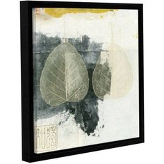 ArtWall Elena Ray Wabi-Sabi Bodhi Leaf Collage 4 inch Gallery-wrapped Floater-framed Canvas, Size: 24 x 24, White