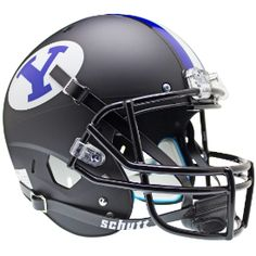 Old Ghost Collectibles - Brigham Young BYU Cougars NCAA Schutt XP Matte Black Full Size Replica Football Helmet, $81.99 (http://www.oldghostcollectibles.com/brigham-young-cougars-schutt-full-size-black-replica-xp-football-helmet/)