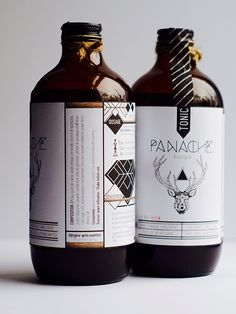 The Panache Rustique tonic syrup is a concentrated tonic, handmade in small batches. It is produced by a slow and warm maceration, which fully enables the Brand Packaging, Packaging Design, Tonic Syrup, Passion Project, Beverages, Drinks, Wine Labels, Bottle Design, Pesto