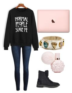 """""""Untitled #2231"""" by aiag ❤ liked on Polyvore featuring WithChic and UGG"""