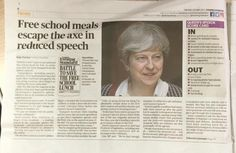 Universal Free School Meals (likely) to be axed in #QueensSpeech #TheresaMay #education #politics #SLTchat