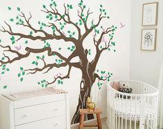 Gran etiqueta de la pared del arbol vivero árbol por ONWALLstudio