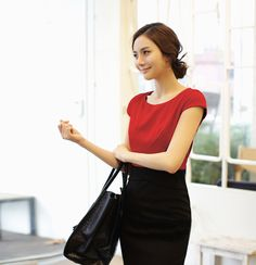 Color Block Puff Cuff Sleeves Scoop Neck Chiffon Modern Style Dress For Women (YELLOW,L) | Sammydress.com