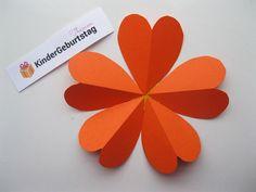 Blumen aus Papier basteln: Anleitung für die Kindern Kids Pages, Craft Tutorials