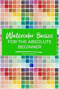 Watercolor Beginner, Watercolor Paintings For Beginners, Watercolor Mixing, Watercolor Tips, Watercolour Tutorials, Watercolor Artists, Watercolor Pencils, Watercolor Techniques, Learn Watercolor Painting