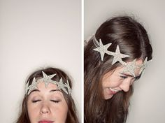 Sparkly glitter star crown instead of the usual party hat!