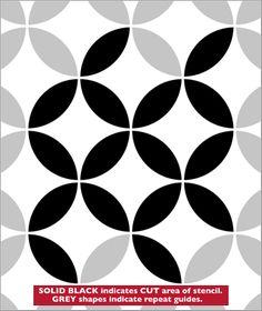 Circles stencil from The Stencil Library JAPAN range. Buy stencils online. Stencil code JA62.