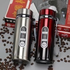 High capacity Business Thermos Mug Stainless Steel Water Bottle – Creationsg Stainless Steel Material, Stainless Steel Water Bottle, Vacuum Flask, Thermal Insulation, Insulated Water Bottle, Tea Mugs, Drinkware, Tumbler, Eco Friendly