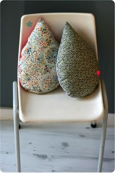 No pattern, just for inspiration. Goutte de douceur by emilie sans chichi Sewing Projects, Diy Projects, Art Du Fil, Couture Sewing, Home And Deco, Diy Pillows, Kids Decor, Soft Furnishings, Home Textile