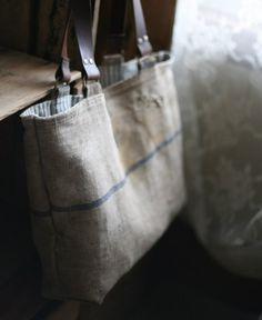 antique linen bag.
