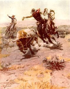 reminds me of my Grandpa:) Cowboy Horse, Cowboy Art, Cowboy And Cowgirl, Old West, Costumes Western, Image New, Ecole Art, West Art, Le Far West