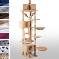 Feline playground Large Cat Tree from By nature, cats are energetic and curious. All cats can become restless, and need to scratch their claws regularly in the same wa Large Cat Tree, Cat Cave, Joko, Canning, Kissa, Cats, Playground, Home Decor, Nature