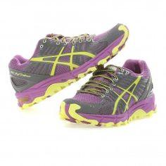 Asics+ +GEL-FUJITRABUCO+Trailrunningschuh+Damen+ +neon+purple-yellow-charcoal