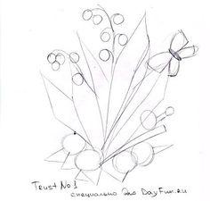 Как нарисовать ландыши карандашом поэтапно 2