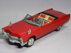 RARE Cadillac Eldorado Type1966 Tin Toy Electric Car Bandai Japan HTF 1454 #Bandai