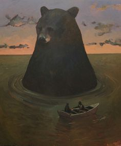 I need a print of this Travis Shilling painting in my home. Black Bear.
