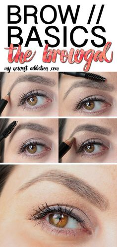 Have you ever filled in your brows? This is a fast and easy routine to get a natural looking brow! Brow Basics with The BrowGal | My Newest Addiction