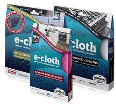 E-Cloths. No chemical. Just add water