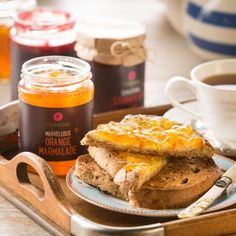 """Good Morning"", said the Dobbies Marvellous Orange Marmalade. Marmalade, Dobby, French Toast, Food And Drink, Orange, Breakfast, Morning Coffee"