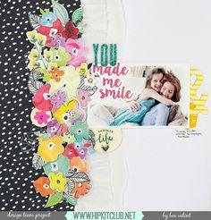 Flowers, glitzy alpha, b&w paper