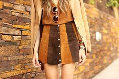 FashionCoolture - 10.03 look du jour Episode earth tones button front skirt camel outfit(5)