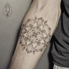 Geometric Line And Dot Tattoos By Turkish Artist Prove Less Is More