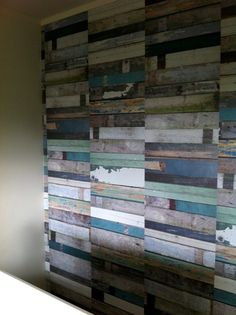 Recycled weatherboard wallpaper
