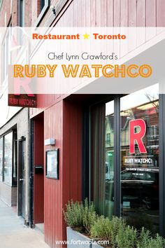 Ruby Watchco: Every Night a Surprise Lynn Crawford, Northern Girls, Gta, Ontario, Toronto, Canada, Restaurant, Night, Outdoor Decor
