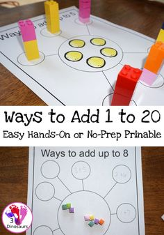 When you are learning addition there are many different ways to learn it. I've added several math addition tools to help kids over the years. One of my favorites has been the Ways to Add Up to Up to Kindergarten Math Activities, Preschool Math, Number Activities, Teaching Resources, Math Work, Fun Math, Maths, Kindergarten Homeschool Curriculum, Homeschooling