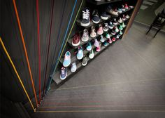 I love when retail spaces and art installations mingle together. The Run Colors trainer store in Poznań, Poland features seven rainbow rope colours, inspired by shoelaces and brand lines. Designed by Mode:lina Architekci, the ro ...