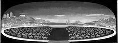 """Adalberto Libera, """"La città ideale"""" (The ideal city), 1937. Print from glass negative, 18 x 13 cm. Private collection."""