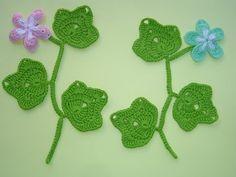 Вязание веточки листиков на шнуре гусеничка - урок вязания крючком -Crochet leaf sprigs - YouTube