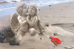 Angels [I've repinned this image which looks like sand sculpure - very clever. I really admire this form of art. ;) Mo]